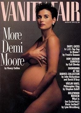 Demi Moore's Vanity Fair cover from August 1991 is the most iconic pregnancy photo of all time. Celebrity photographer Annie