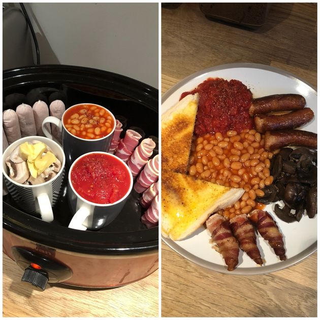 This Mum Is Wowing Fry-Up Fans By Making A Full English Breakfast In A Slow