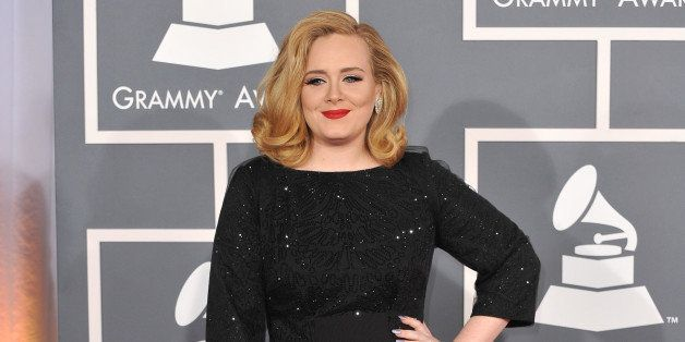 adele at the 54th annual grammy ...