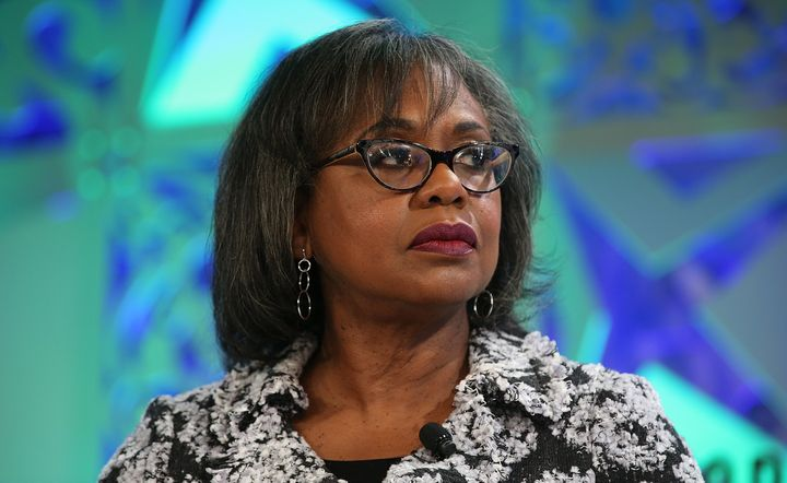 Anita Hill speaks on stage at the Fortune Most Powerful Women Summit on Oct. 2, 2018, in Laguna Niguel, California.