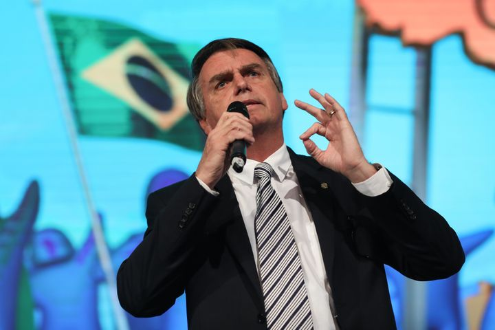 Far-right politician Jair Bolsonaro advanced to the second round of voting in Brazil's presidential election Sunday.