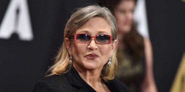 Carrie Fisher arrives at the Governors Awards at the Dolby Ballroom on Saturday, Nov. 14, 2015, in Los Angeles. (Photo by Jor