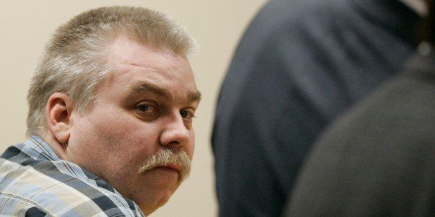 ** FILE ** Steven Avery looks around a courtroom in the Calumet County Courthouse before the verdict was read in his trial, M