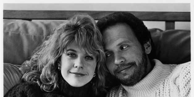 CIRCA 1989:  Meg Ryan and Billy Crystal pose for the movie 'When Harry Met Sally' circa 1989. (Photo by Hulton Archive/Getty