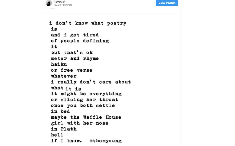 Instagram Poetry Is A Huckster's