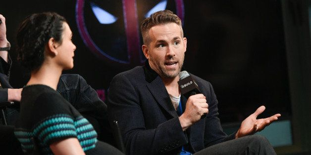 "Actor Ryan Reynolds participates in AOL's BUILD Speaker Series to discuss the film, ""Deadpool"", at AOL Studios on Tuesday, Fe"