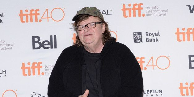 "Director Michael Moore attends the ""Where to Invade Next"" premiere  on day 1 of the Toronto International Film Festival at Th"