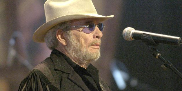 Merle Haggard during Willie Nelson and Friends: 'Outlaws & Angels' - Show and Backstage at Wiltern Theatre in Los Angeles, Ca