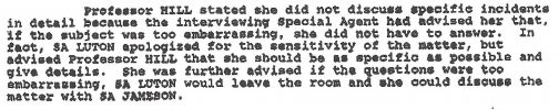 FBI agent Jolene Smith Jameson submitted an affidavit about her experience interviewing Hill.