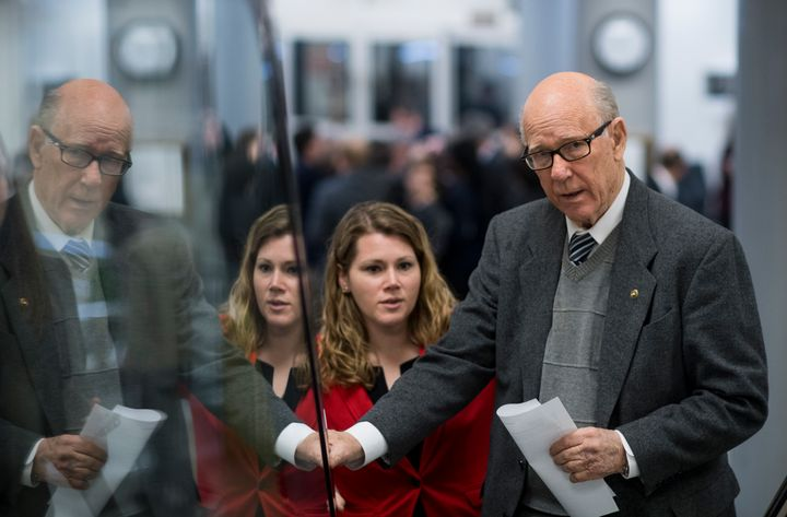 Sen. Pat Roberts (R-Kan.), who chairs the Senate Agriculture Committee, is seen in March 2017.