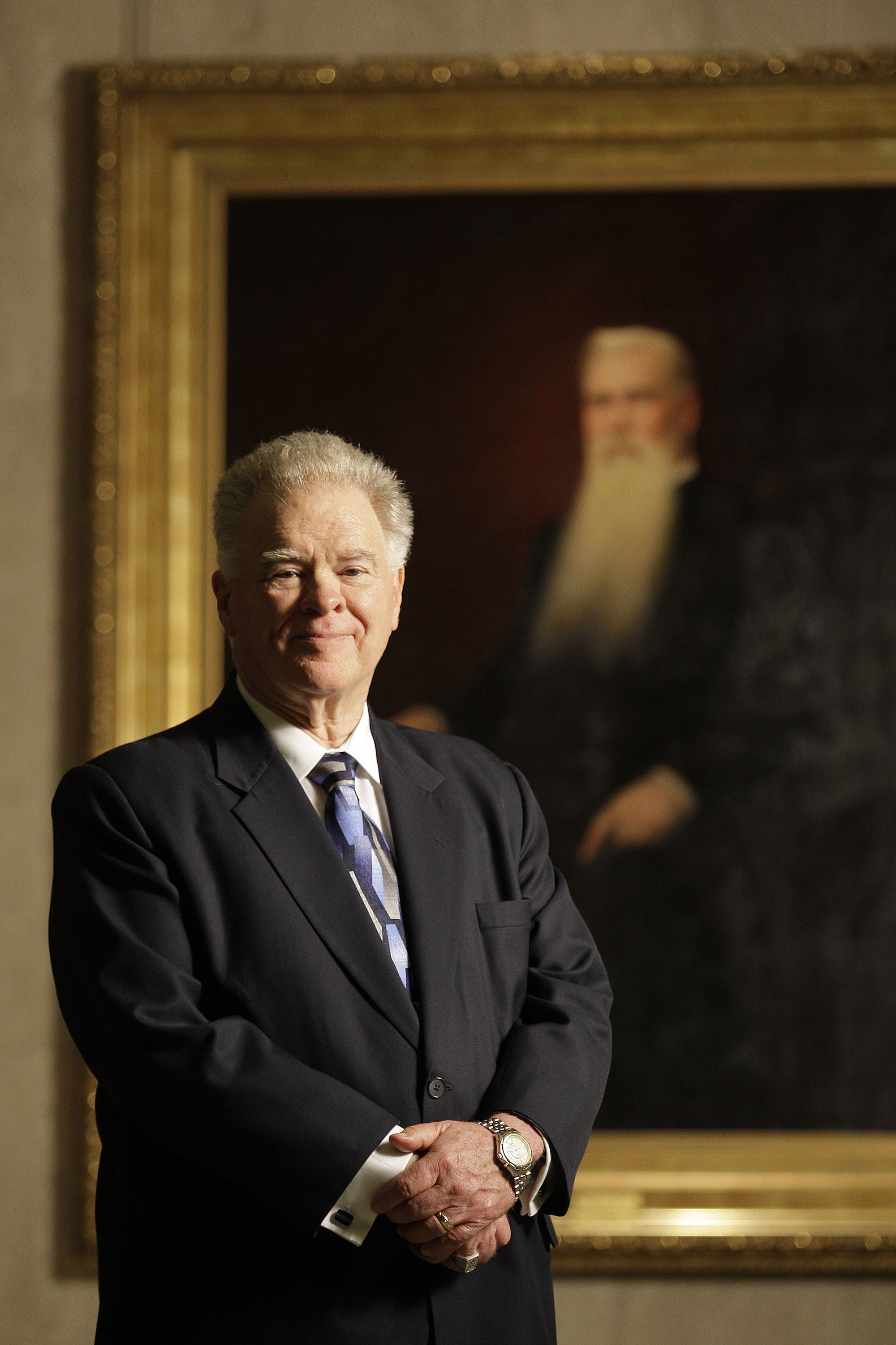 Paige Patterson posing in the rotunda of the B.H. Carroll Memorial Complex on Tuesday, Oct. 12, 2010. According to a Washington Post story, a woman claims Patterson previously encouraged her not to report a rape to police and told her to forgive the man who allegedly raped her after she invited him into her apartment. (Paul Moseley/Fort Worth Star-Telegram/TNS via Getty Images)