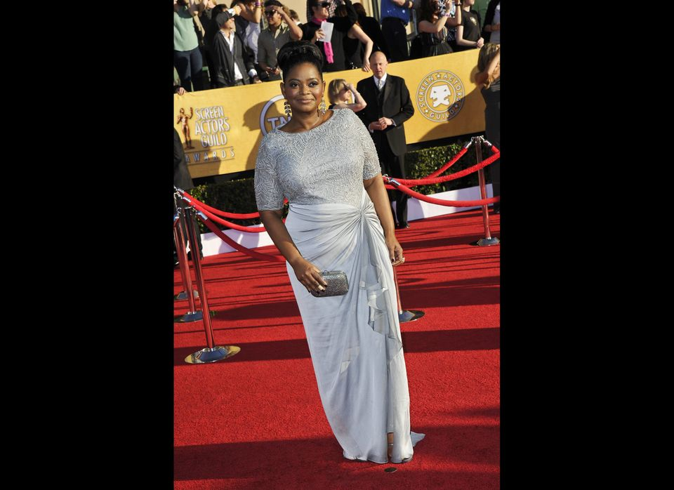 Actress Octavia Spencer arrives to the 18th Annual Screen Actors Guild Awards at the Shrine Auditorium in Los Angeles, Califo