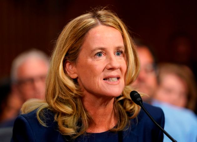 Christine Blasey Ford testifying before the Senate Judiciary Committee on Sept.