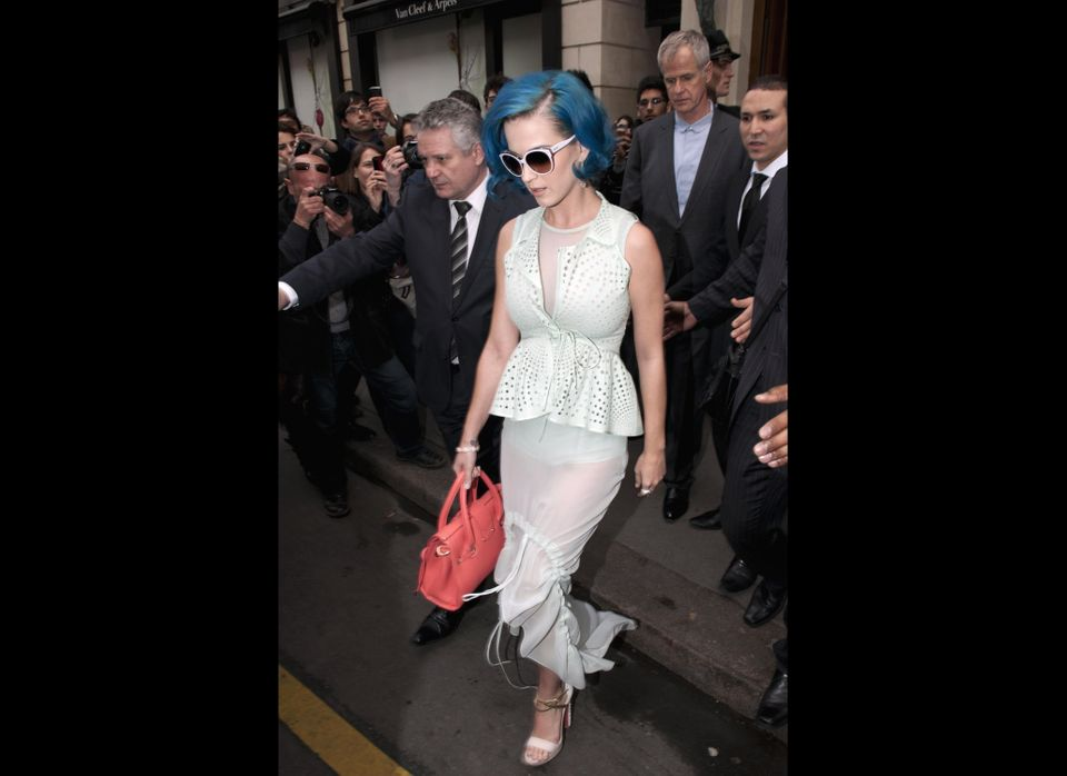 A serious Katy Perry leaves her hotel wearing a see through skirt www.bauergriffinonline.com