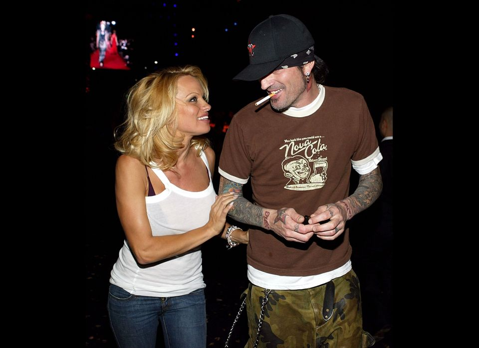 Pamela Anderson and then-husband Tommy Lee filmed themselves having sex while on their honeymoon.  The tape leaked in 1998