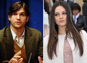 Ashton Kutcher dating Mila Kunis 2012 dating antiikki seinä kellot