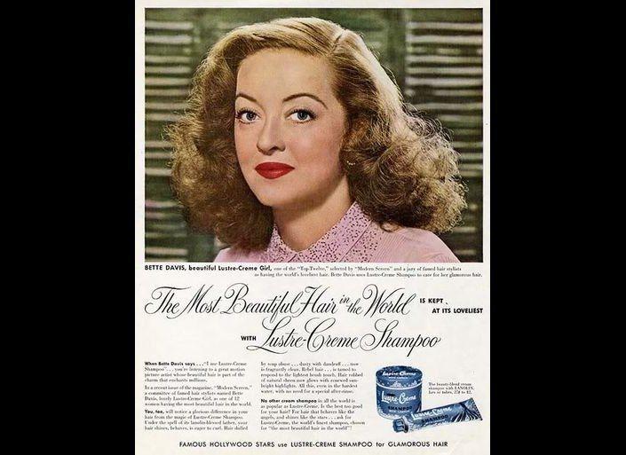 "<a href=""http://pzrservices.typepad.com/vintageadvertising/2010/04/1951-ad-for-lustrecreme-shampoo-featuring-bette-davis.html"