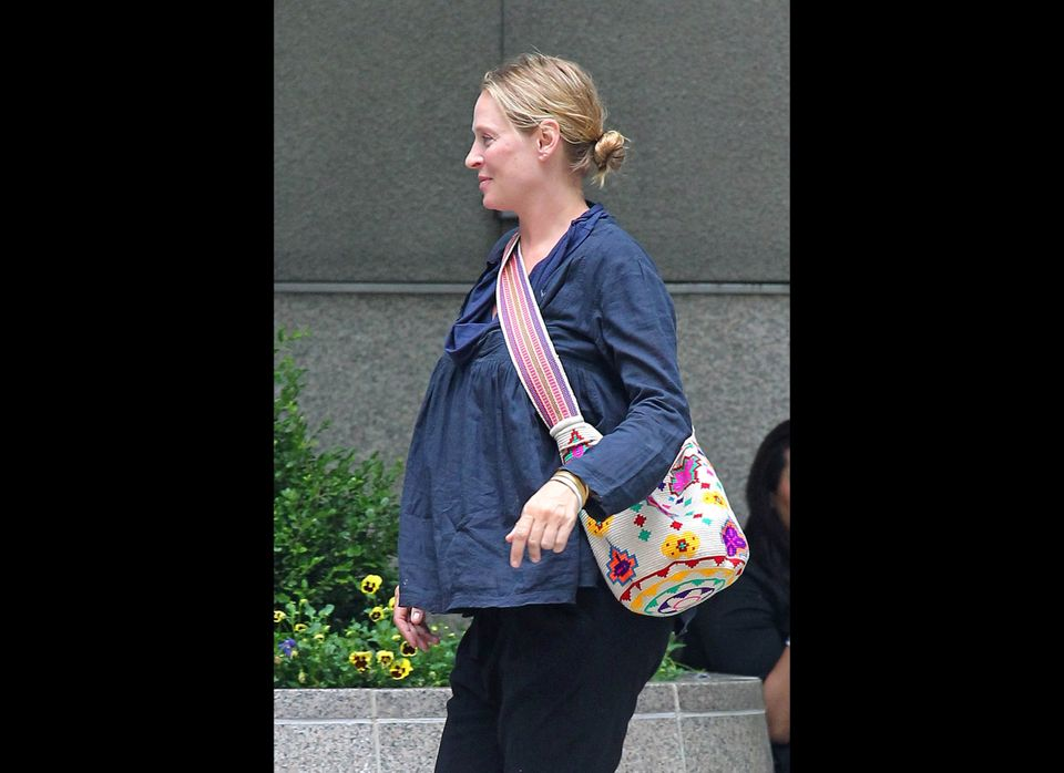 Uma Thurman never publicly commented on her latest pregnancy, and although her rep confirmed that the actress, who most recen