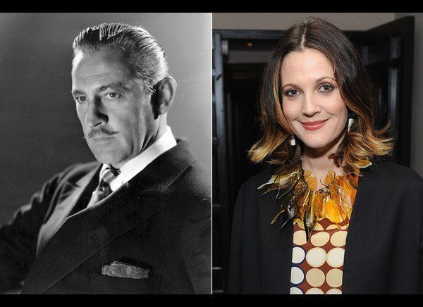 Drew Barrymore is certainly on today's A-list, but her grandfather, John Barrymore, made a name for himself in Hollywood than