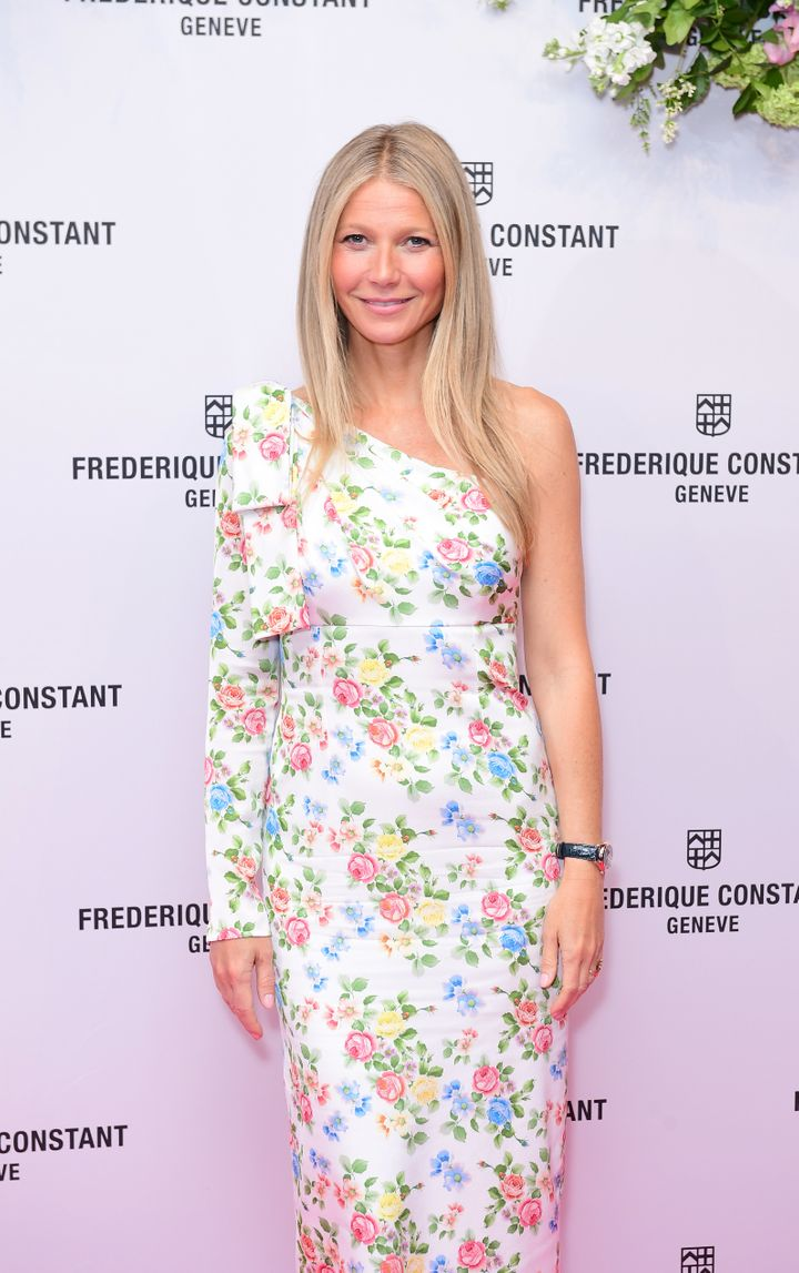 Gwyneth Paltrow poses during an event at the Design Museum in London.