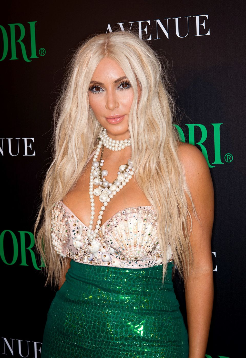 NEW YORK, NY - OCTOBER 27:  Kim Kardashian attends 2nd Annual Midori Green Halloween Party at Avenue on October 27, 2012 in N