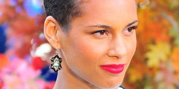NEW YORK, NY - OCTOBER 02:  Singer Alicia Keys is seen outside 'Good Morning America'on October 2, 2013 in New York City.  (P