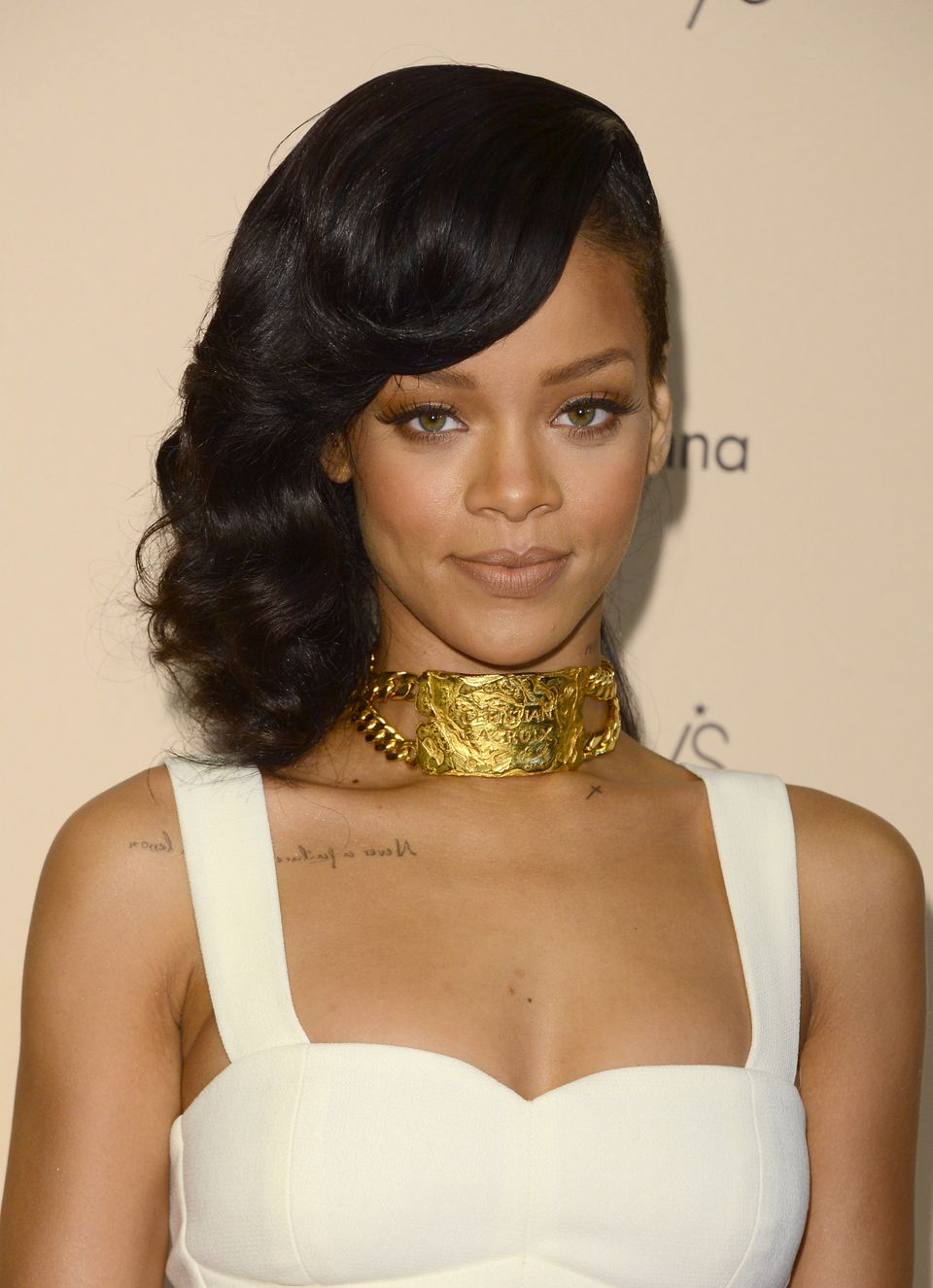 """""""He was the love of my life. The first love,"""" <a href=""""https://www.huffpost.com/entry/rihanna-forgives-still-loves-chris-brow"""