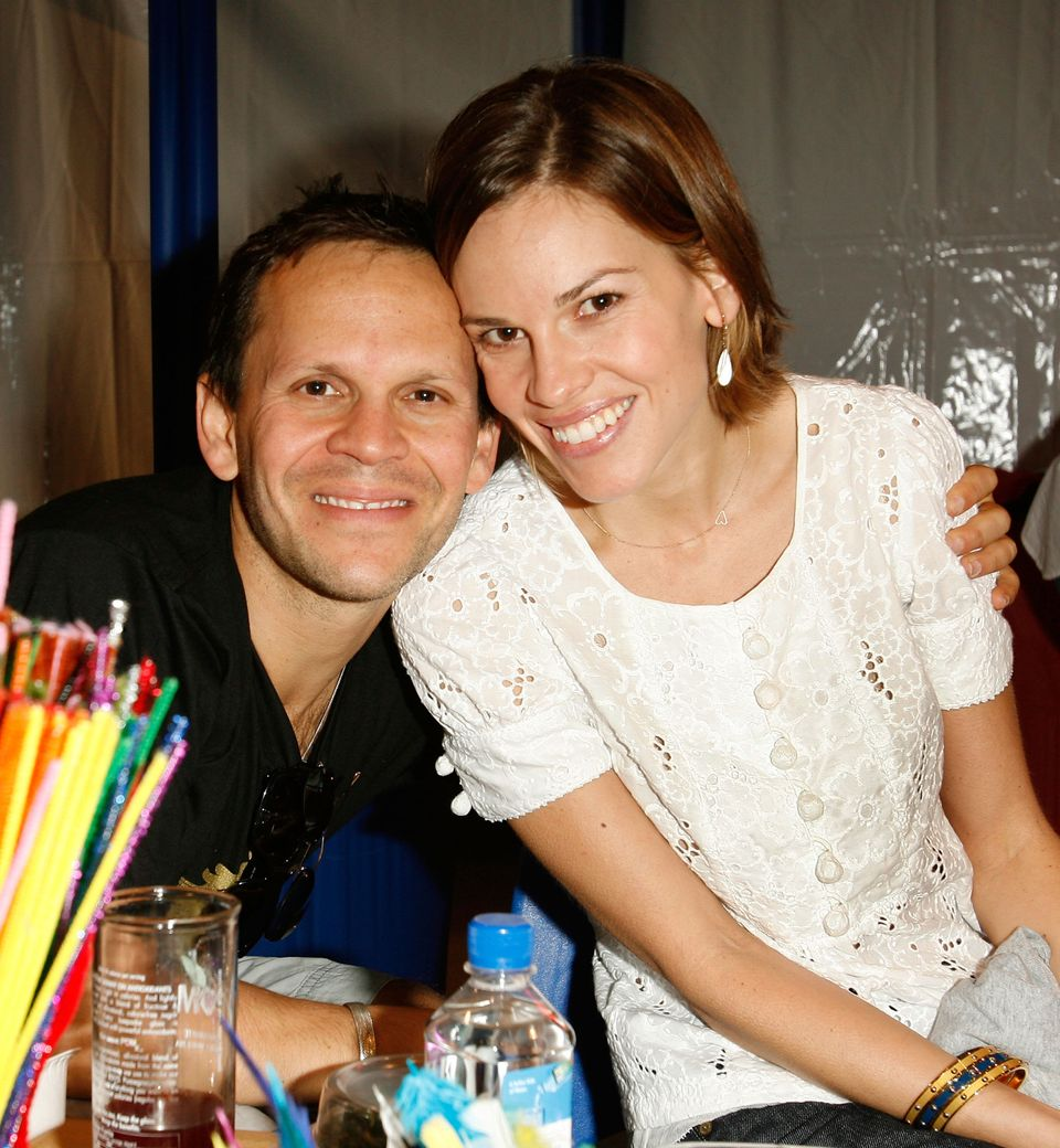"""Actress Hilary Swank's new boyfriend looks so much like her ex, Chad Lowe, that it's eery! The outline of their faces is the"