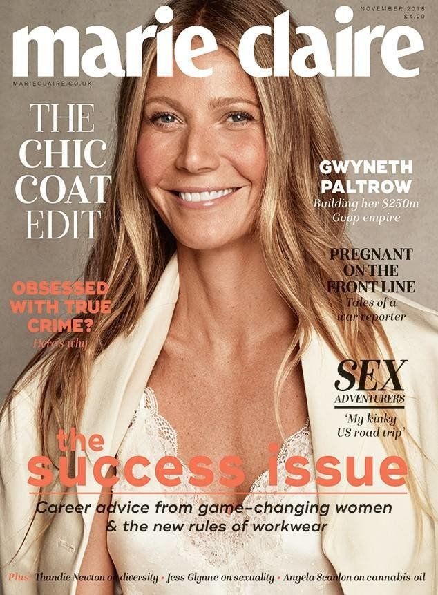 Gwyneth Paltrow covers Marie Claire U.K.'s November issue.