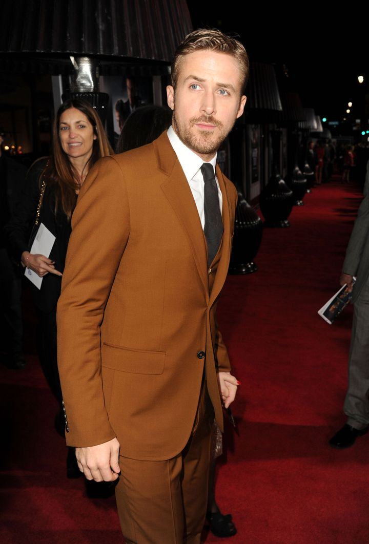 HOLLYWOOD, CA - JANUARY 07:  Actor Ryan Gosling arrives at Warner Bros. Pictures' 'Gangster Squad' premiere at Grauman's Chin