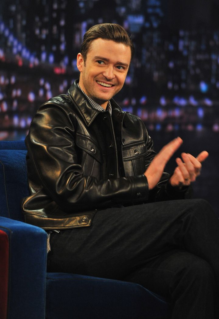 NEW YORK, NY - MARCH 11: Justin Timberlake visits 'Late Night With Jimmy Fallon' at Rockefeller Center on March 11, 2013 in New York City. (Photo by Theo Wargo/Getty Images)