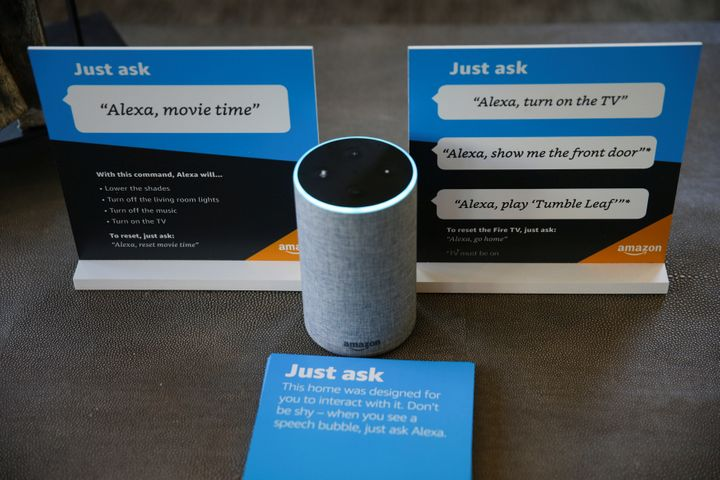 Sample prompts explain how to use Alexa. Some people worry that prompts like these encourage rudeness.
