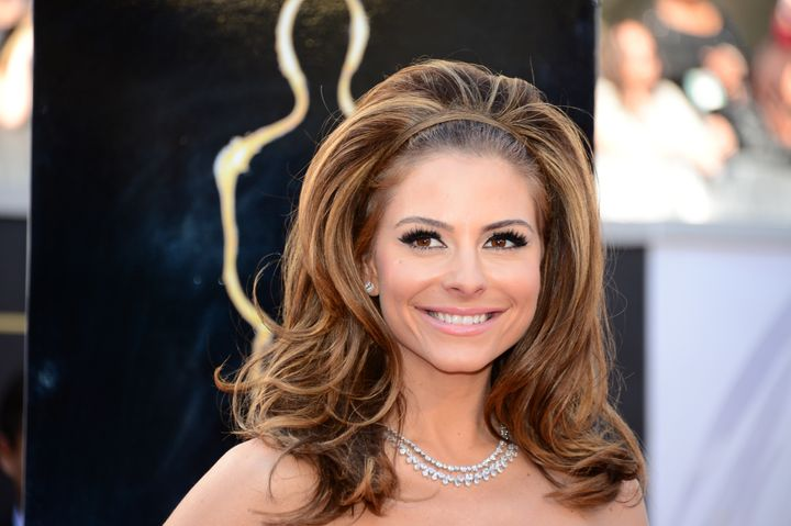 Maria Menounos arrives on the red carpet for the 85th Annual Academy Awards on February 24, 2013 in Hollywood, California. AF