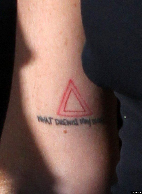 Lindsay Lohan Tattoo Actress Reveals Meaning Behind Triangle Ink