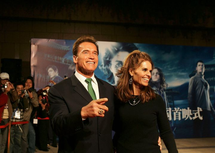 SHANGHAI, CHINA - NOVEMBER 17: (CHINA OUT) California Governor Arnold Schwarzenegger and his wife Maria Shriver arrive at mov