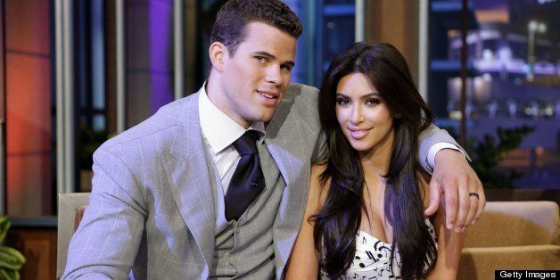 THE TONIGHT SHOW WITH JAY LENO -- (EXCLUSIVE COVERAGE) Episode 4122 -- Pictured: (l-r) Chris Humphries and Kim Kardashian dur