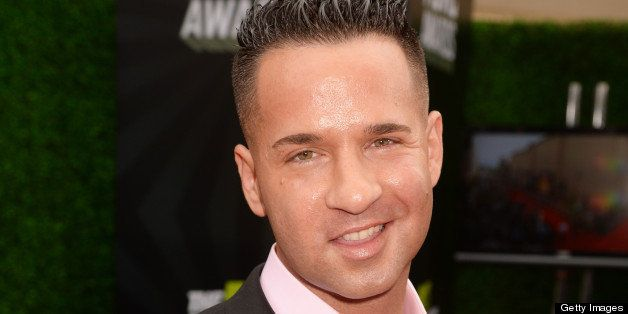 CULVER CITY, CA - APRIL 14:  TV personality Mike 'The Situation' Sorrentino attends the 2013 MTV Movie Awards at Sony Picture