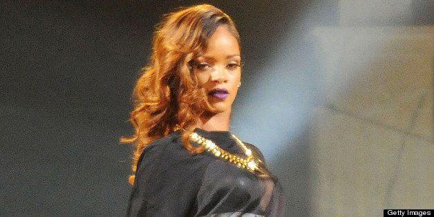 ATLANTA, GA - APRIL 22:  Rihanna performs at Philips Arena on April 22, 2013 in Atlanta, Georgia.  (Photo by Chris McKay/Wire