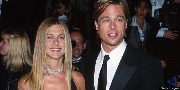 Jennifer Aniston and Brad Pitt (Photo by Rob Beccaris/WireImage)