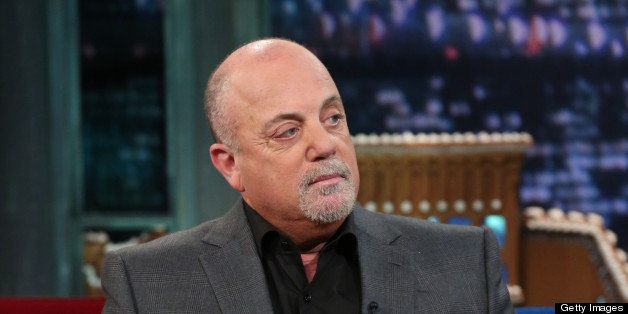 LATE NIGHT WITH JIMMY FALLON -- Episode 750 -- Pictured: Billy Joel during an interview on December 13, 2012 -- (Photo by: Ll