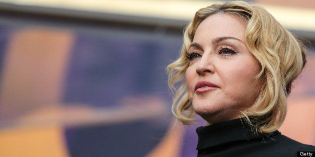 LONDON, UNITED KINGDOM - JUNE 01: Madonna on stage at The Sound Of Change Live Concert as part of Chime For Change at Twicken