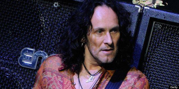 LAS VEGAS, NV - MARCH 22:  Guitarist Vivian Campbell of Def Leppard performs on the opening night of 'VIVA Hysteria!,' the ba