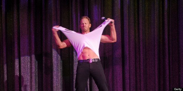 LAS VEGAS, NV - JUNE 08:  Ian Ziering debuts in Chippendales at the Rio All-Suite Hotel and Casino on June 8, 2013 in Las Veg