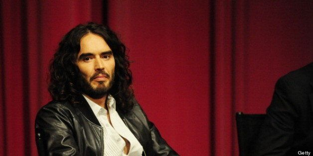 LOS ANGELES, CA - APRIL 02: Russell Brand moderates the Q&A at the 'Meditation In Education' Global Outreach Campaign Event a