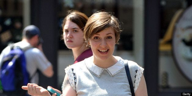 NEW YORK, NY - JUNE 25:  Lena Dunham filming 'Girls' in SoHo on June 25, 2013 in New York City.  (Photo by Steve Sands/Getty