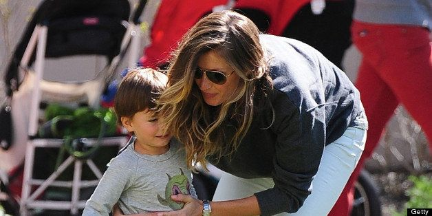 NEW YORK, NY - MAY 04: Gisele Bündchen and Benjamin Brady are seen in Battery Park City on May 4, 2013 in New York City. (Pho