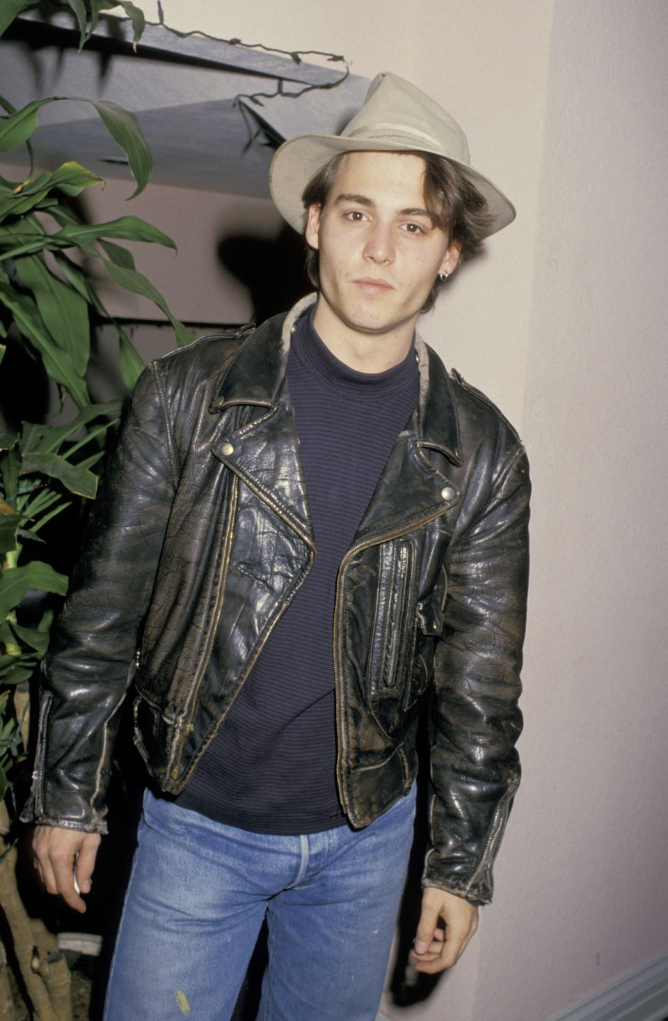 Johnny Depp (pictured here in 1987) was married to makeup artist Allison (not pictured) from 1983 to 1985.