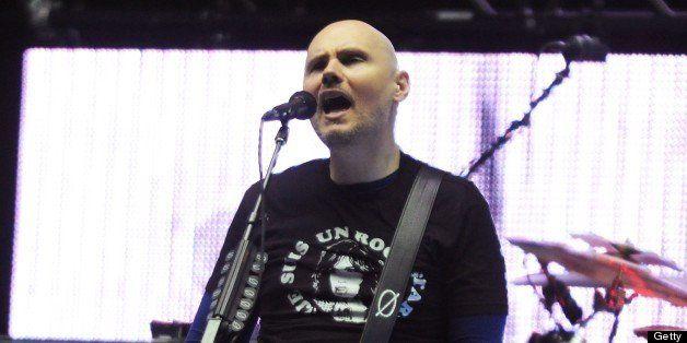 ATLANTA, GA - MAY 10:  Billy Corgan of Smashing Pumpkins performs at Chastain Park Amphitheater on May 10, 2013 in Atlanta, G