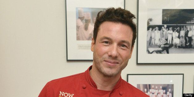 NEW YORK, NY - JUNE 25: Chef Rocco DiSpirito poses for a picture during an exclusive cooking class to celebrate the launch of