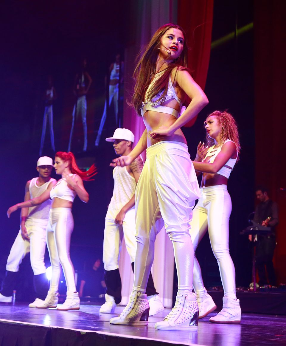 VANCOUVER, CANADA - AUGUST 14:  Selena Gomez performs during the first show of her 'Stars Dance' tour at Pepsi Live at Rogers